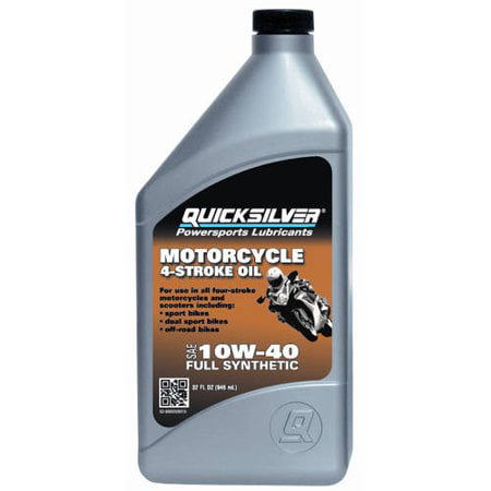 (6 Pack) Quicksilver 10W40 Full Synthetic Off-Road Motorcycle (10w40 Motorcycle Oil)