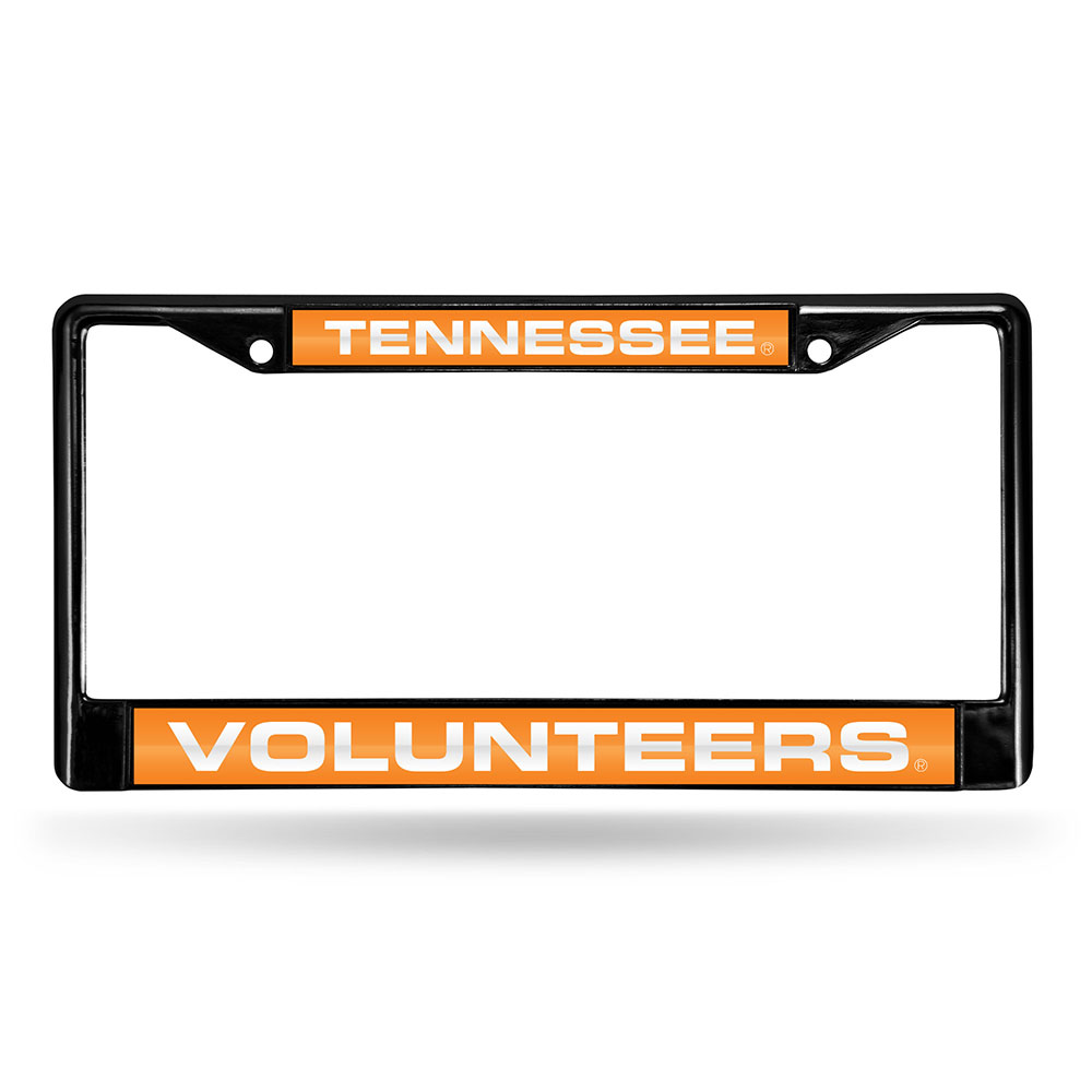 Tennessee Volunteers NCAA Black Chrome Laser Cut License Plate Frame