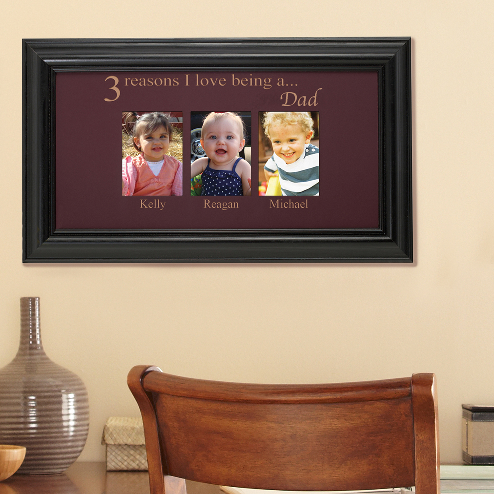 Personalized Reasons I Love Photo Frame, Two Photos