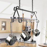 Enclume USA Handcrafted Compact Scrolled Hanging Pot Rack