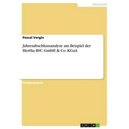 Jahresabschlussanalyse am Beispiel der Hertha BSC GmbH & Co. KGaA - eBook