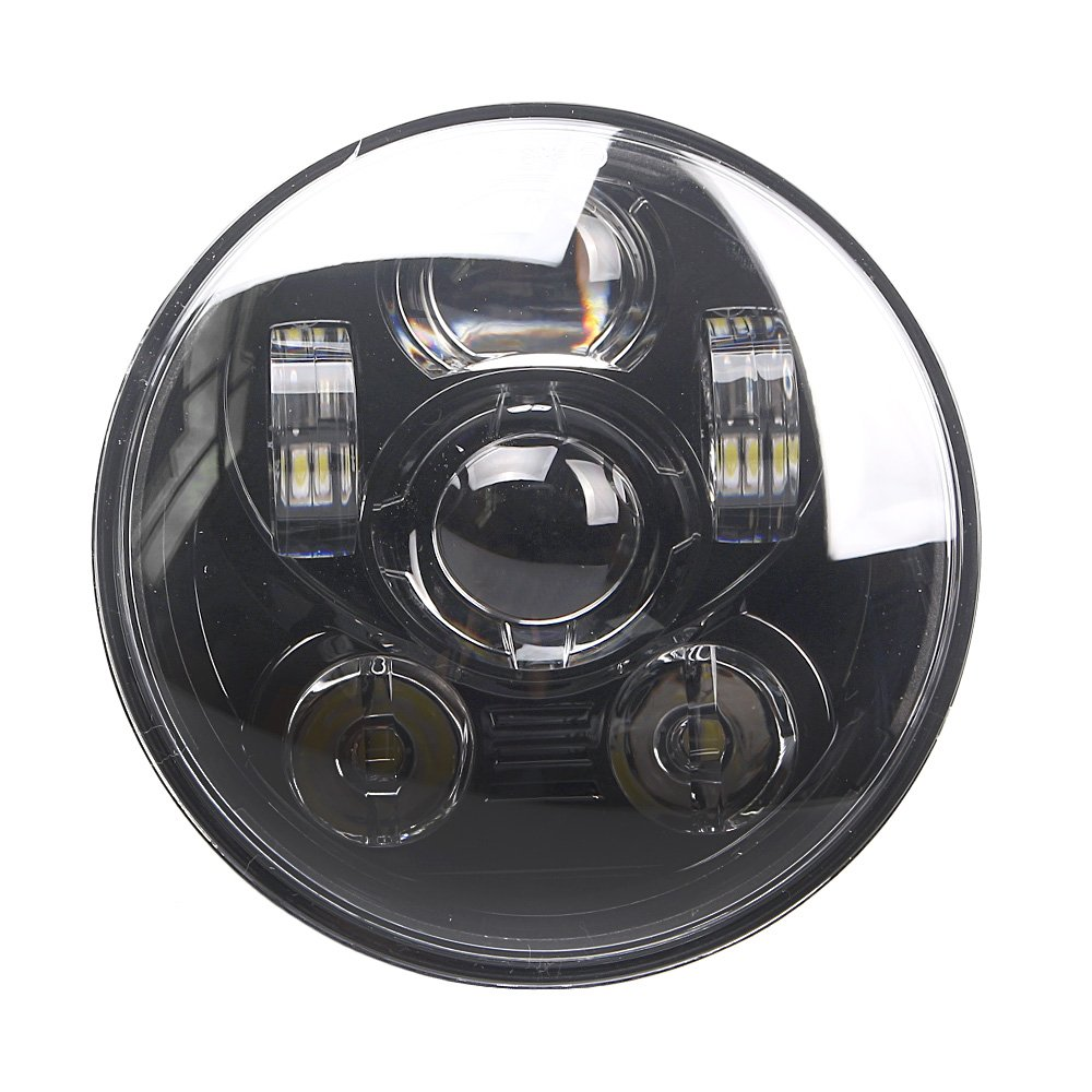 GZYF 1Pc Motorcycle 45W Projector LED Headlight Headlamp for 1996-Later XL1200C & 2006-Later FXD  FXDL FXDC FXDB FXD35 FXDSE FXDF