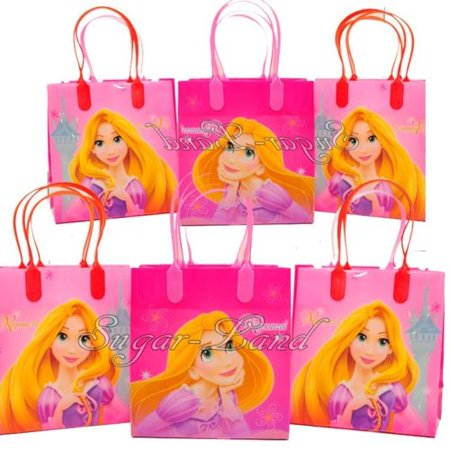 12 Tangled Party Favor Bags Candy Rapunzel Birthday Treat Favors Gifts Plastic Bolsas De - Rapunzel Birthday Supplies