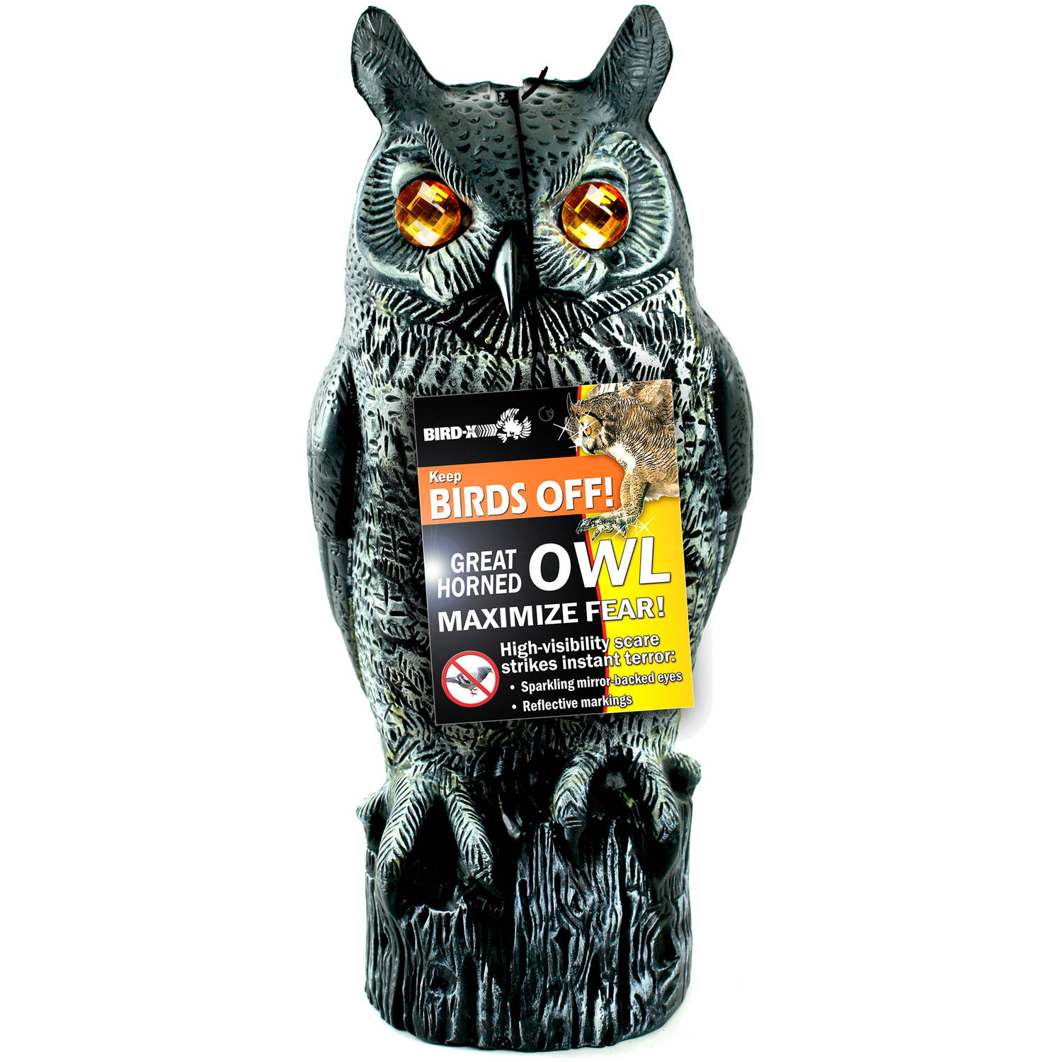 Bird-X Great Horned Owl Decoy with Reflective Eyes