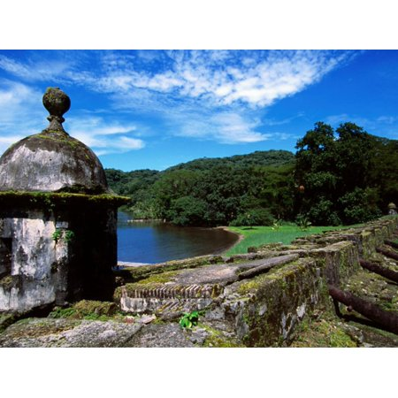 Rusting Cannons and Battlements, Low Battery of San Fernando Fort (1753), Portobelo, Panama Print Wall Art By Alfredo Maiquez ()
