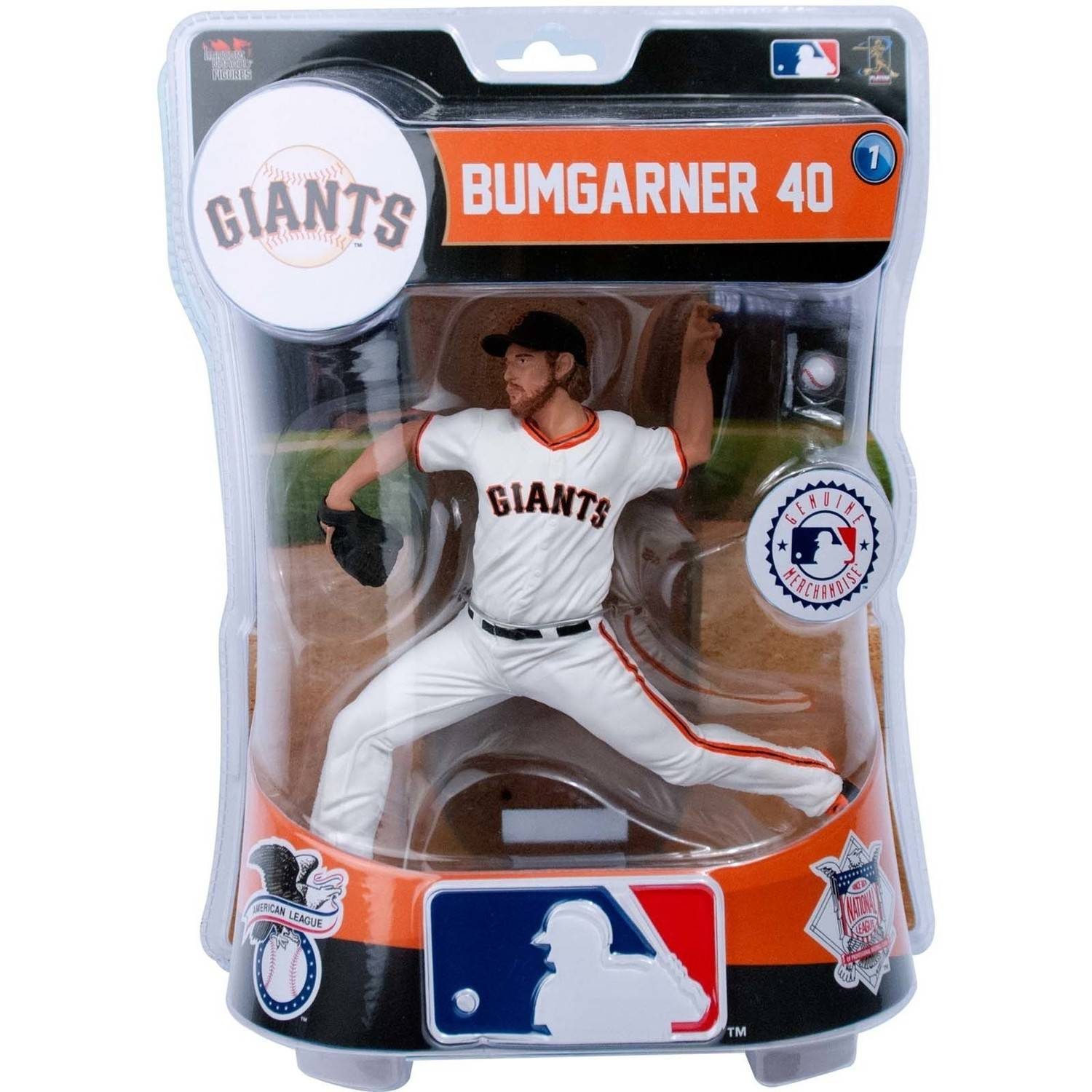 "Import Dragon MLB San Francisco Giants Madison Bumgarner Collectible Figure, 6"", White"