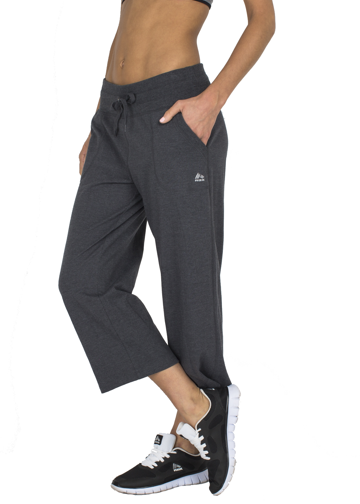 RBX Active Women's Relaxed Fit Cotton Capri Pant w/ Dual Pockets