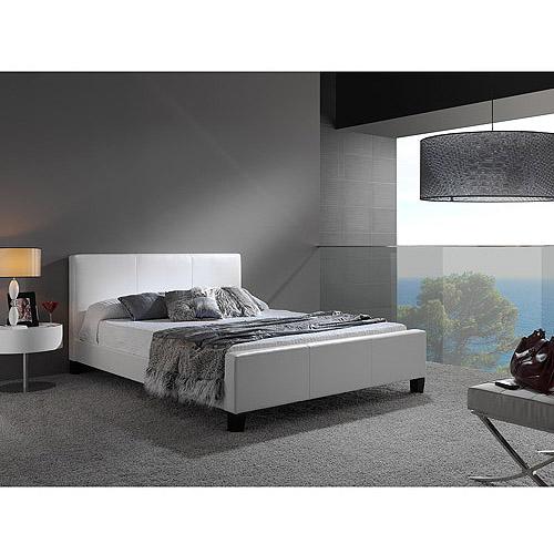 Euro Full Bed, White
