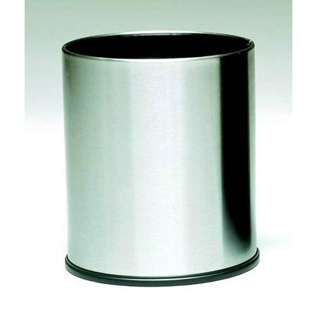 Stainless Steel Round Wastebasket