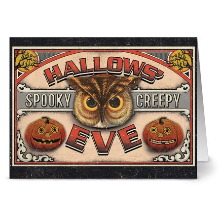 24 Halloween Note Cards - Hallow's Eve - Blank Cards - Tangerine Zest Envelopes Included