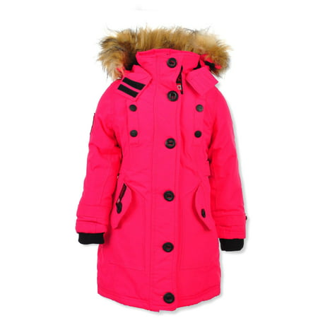 Canada Weather Gear Girls' Insulated Parka Canada Goose Expedition Parka