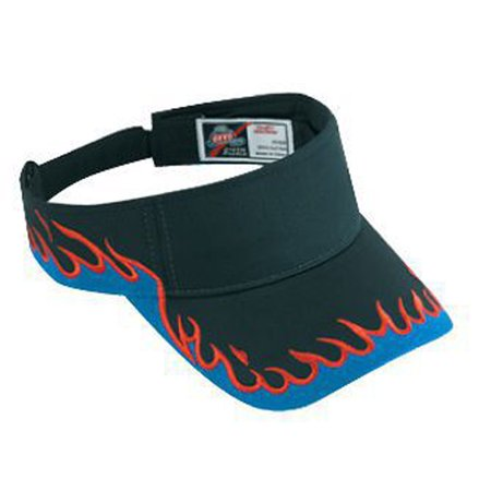 Otto Cap Flame Pattern Cotton Twill Sun Visors - Hat / Cap for Summer, Sports, Picnic, Casual wear and Reunion