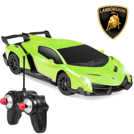 Green Rake (Best Choice Products 1/24 Scale RC Sport Racing Car w/ 27MHz Remote Control, Head and Taillights, Shock Suspension, Fine Tune Adjustment - Green)