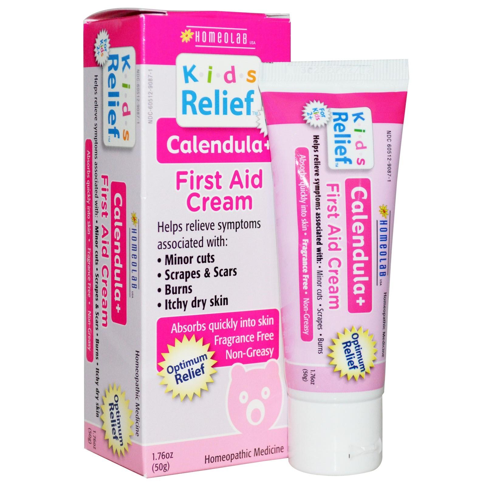 Homeolab USA Kids Relief Calendula+ Pain Cream, 1.76 Oz