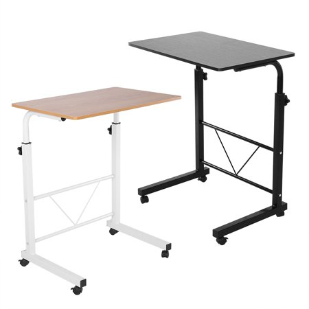 Yosoo Laptop Rolling Cart Portable Desk Height Adjule Computer Table Standing With Wheels For