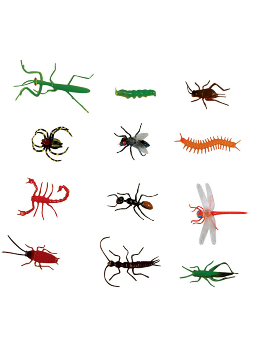 """Lot of 144 Assorted Halloween Decor Plastic 3"""" Insect Bug by Rhode Island Novelty"""