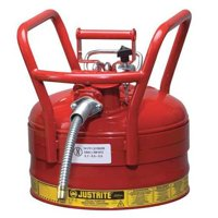 JUSTRITE 7325130 2-1/2 gal. Red Steel Type II DOT Safety Can for Flammables