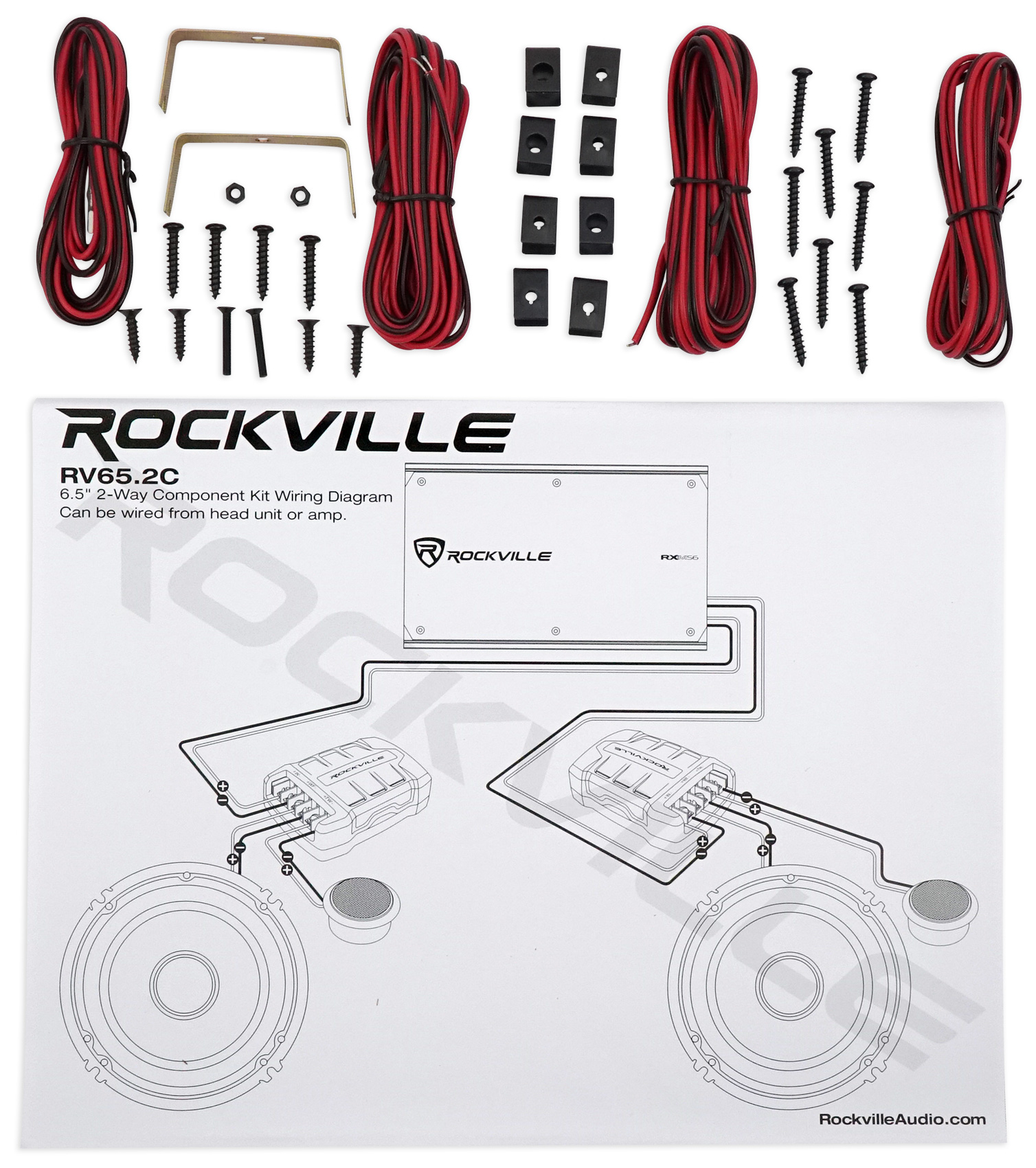 Rockville Wiring Diagrams Schematics 2000 Pontiac Montana Engine Diagram 3400 Or3 4l Rxh F5 Amplifier Car Stereo Amp Wire Kits Cable Component Rh Walmart Com Symbols