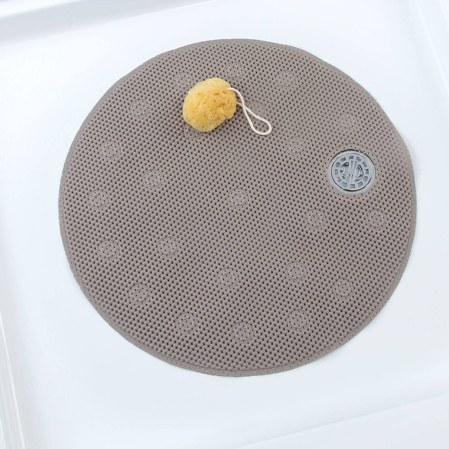 Slipx Solutions Comfort Foam Shower Mat With Offset Drain