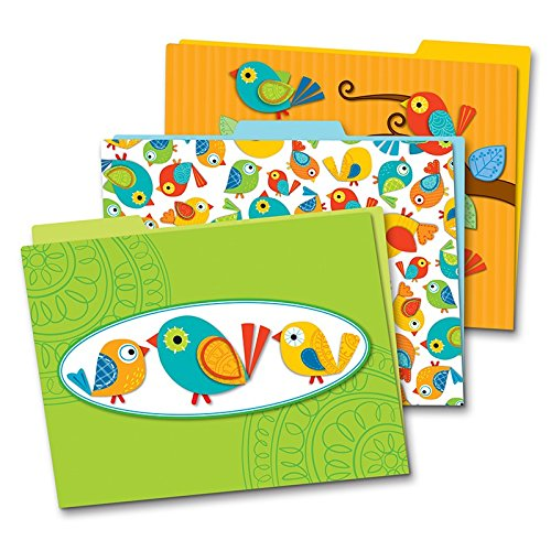 Carson-dellosa Boho Birds File Folders Set - Multi-colored - 6 / Pack (cdp-136007)