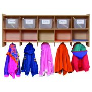 Steffy Wood Products 10-Section Wall Locker