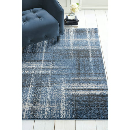 United Weavers Vienna Helem Distressed Midnight Blue Woven Polypropylene Area Rug or Runner