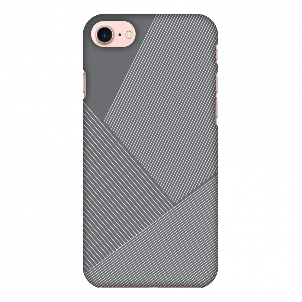 iPhone 7 Case, Premium Handcrafted Designer Hard Shell Snap On Case Printed Back Cover with Screen Cleaning Kit for iPhone 7, Slim, Protective - Carbon Fibre Redux Stone Gray 1