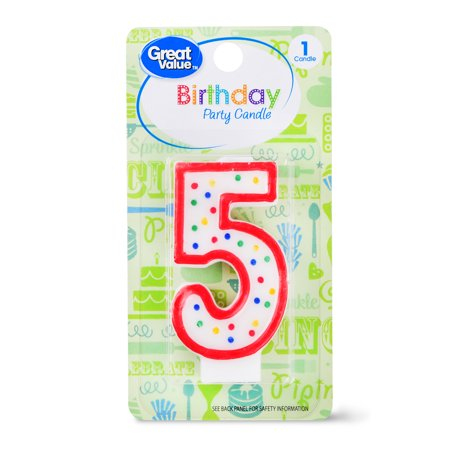 Great Value Birthday Party Candle Number 5