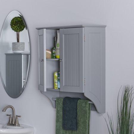 Riverridge Ashland Collection 2 Door Wall Cabinet Gray