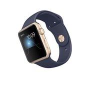apple apple watch sport 42mm gold aluminum case with midnight blue