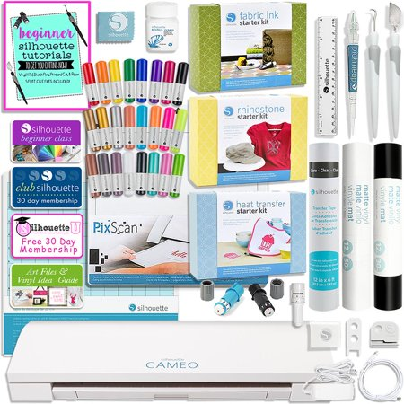Silhouette Cameo 3 Bluetooth with Starter Kits (Best Silhouette Cameo 3 Bundle)