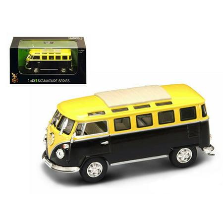 1962 Volkswagen Microbus Van Bus Orange/Purple 1/43 Diecast Car by Road Signature