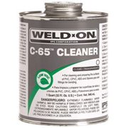 WELD-ON C-65 PIPE CLEANER FOR ABS, PVC, CPVC, AND STYRENE, CLEAR, 1 PINT