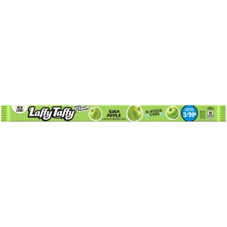 Laffy Taffy Sour Apple Rope Chewy Candy, 0.81oz (Box of 24) - Calories In Taffy