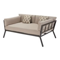 Mainstays Peoria Outdoor Oversized Cushioned Metal Daybed