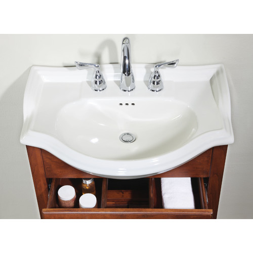 "Empire Industries Bathroom Vanity Top C / S Size/Finish/Configuration: 22""/Capri Biscuit/8"" hole"