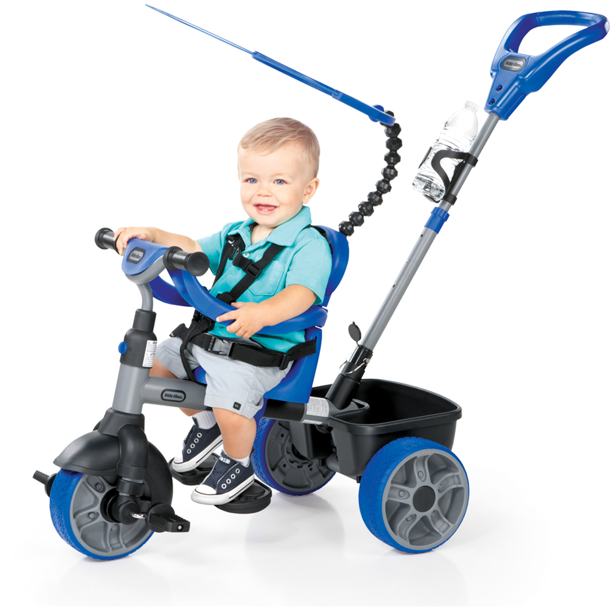 Little Tikes 4-in-1 Basic Edition Trike, Blue by MGA Entertainment