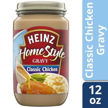 (2 pack) Heinz Home-Style Classic Chicken Gravy, 12 oz Jar
