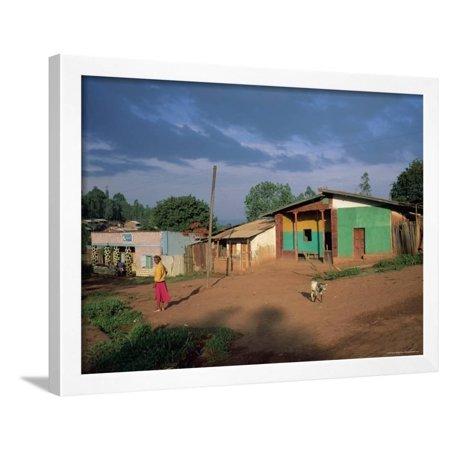 Village Scene, Goulisoo, Oromo Country, Welega State, Ethiopia, Africa Framed Print Wall Art By Bruno Barbier ()