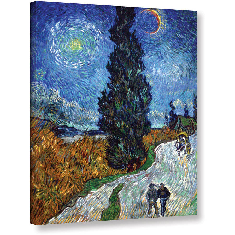"Art Wall ""Country Road in Provence by Night"" by Vincent Van Gogh Painting Print"