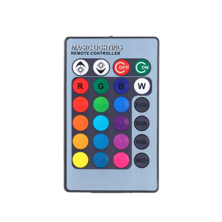 Mini Remote Control Brightness Adjustable Dimmable 16 Colors Cahnging 4 Different Lighting Effects for Bulb - image 5 of 7