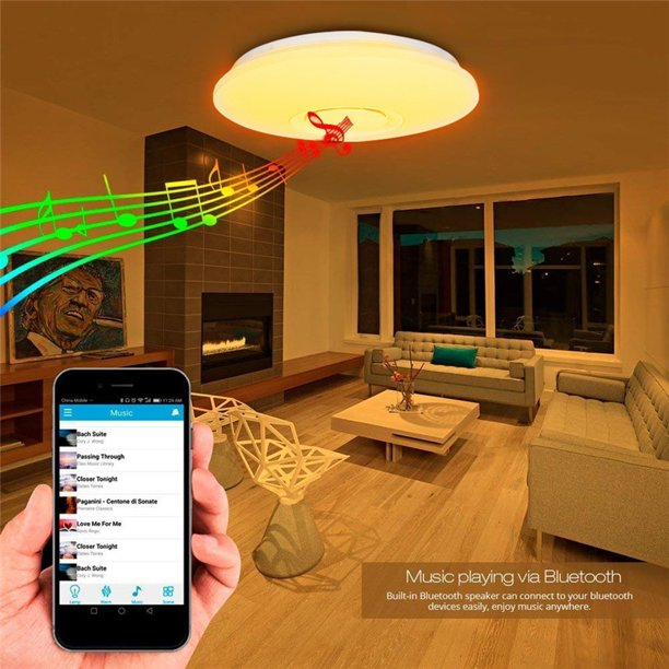 bluetooth Speaker LED Ceiling Lights