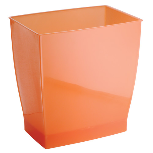 Incroyable Product Image InterDesign Spa Mono Rectangle Wastebasket Trash Can, Frost