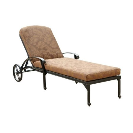 Hawthorne Collections Patio Chaise Lounge with Charcoal Cushions