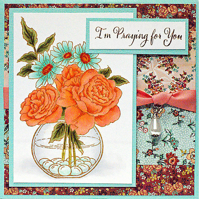 """Stampendous Cling Stamp 4""""X6""""-Bowl Bouquet"""
