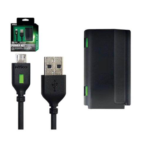 Power Kit Power Adapter For Microsoft Xbox One - Black (Rechargeable battery + Play & Charge Cable)