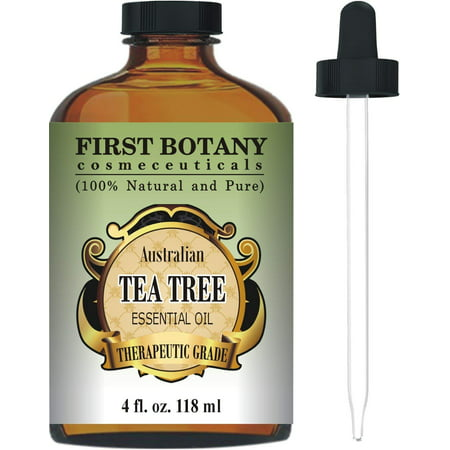 Original Australian Tea Tree - Australian Pure Tea Tree Essential Oil - 4 Fl.oz. with Glass Dropper 100% Natural Therapeutic Oil to Help in Fighting Dandruff, Acne, Toenail Fungus, Yeast Infections, Cold Sores & More.
