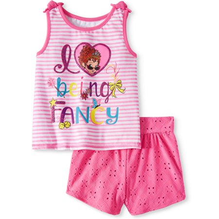 Tank Top and Shorts, 2pc Outfit Set (Toddler Girls) - Fancy Kid Clothes
