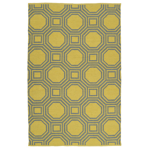 Kaleen Brisa Gray/Yellow Indoor/Outdoor Area Rug