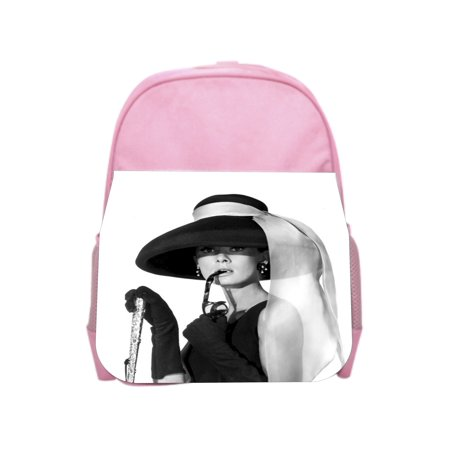 Hepburn in a Hat - Girls Pink Preschool Toddler Children's Backpack & Lunch Box Set